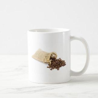 Caneca De Café Pouco sackcloth com feijões de café