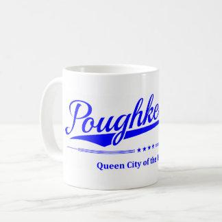 Caneca De Café Poughkeepsie - cidade da rainha do Hudson - azul