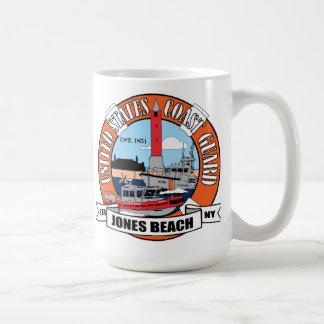 Caneca De Café Praia New York de Jones da estação da guarda