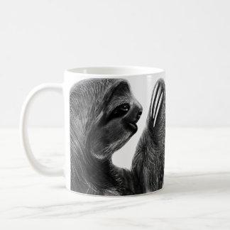 Caneca De Café Preguiças do carvão vegetal animal da floresta