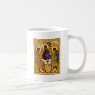 Caneca De Café Presente católico bizantino de Rublev do ícone da