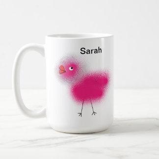 Caneca De Café Presente cor-de-rosa personalizado romântico do