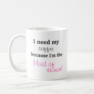 Caneca De Café Presente da madrinha de casamento - eu preciso meu