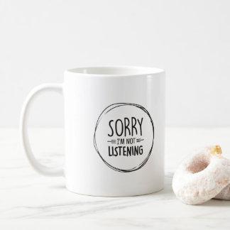 Caneca De Café Presente de desculpa doce - pesaroso eu não estou