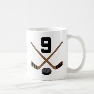 Caneca De Café Presente do número 9 do jérsei do jogador de
