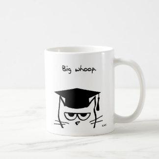Caneca De Café Presente engraçado da graduação - o gato não é
