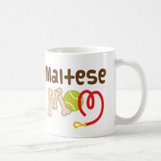 Caneca De Café Presente maltês da mamã (raça do cão)