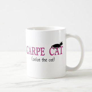 Caneca De Café Presentes do gato de Carpe (apreenda o gato)