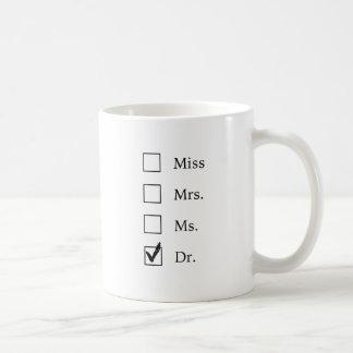 Caneca De Café Presentes do PhD para mulheres