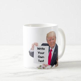 Caneca De Café Presidente Donald Trump - escreva seu próprio