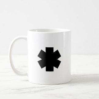 Caneca de café preta do asterisco