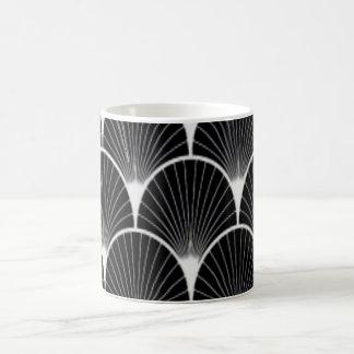 Caneca de café preto & branco do design do art