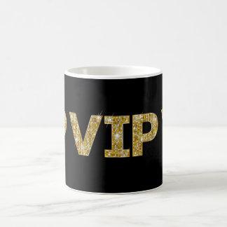 Caneca De Café Preto & brilho VIP do ouro