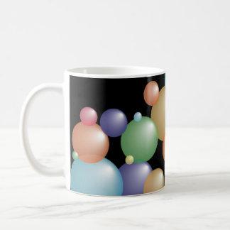Caneca De Café Preto colorido das bolhas