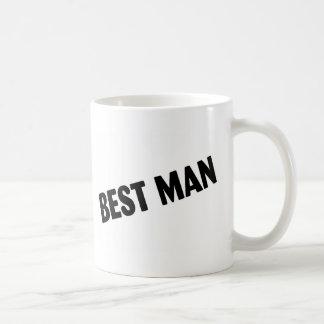 Caneca De Café Preto corajoso do melhor homem