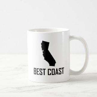 Caneca De Café Preto de Califórnia da costa oeste o melhor
