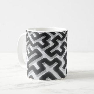 Caneca De Café Preto de prata do labirinto