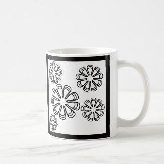 Caneca De Café Preto nas espirais brancas