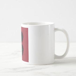 Caneca De Café Preto vermelho dos ornamento luxuosos