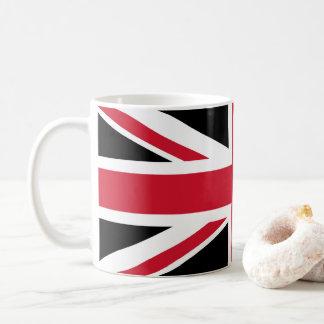 Caneca De Café Preto, vermelho e branco do ~ da modificação Union