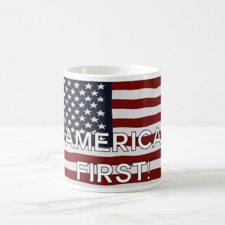 Caneca De Café Primeira E.U. bandeira de América