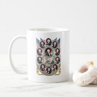 Caneca De Café Primeiras dez Presidentes dos Estados Unidos
