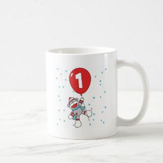 Caneca De Café Primeiro aniversário de Sockmonkey