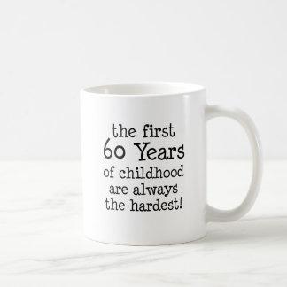 Caneca De Café Primeiros 60 anos de infância