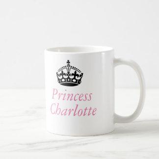 Caneca De Café Princesa Charlotte e coroa britânica