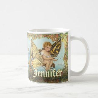 Caneca De Café Princesa feericamente Equitação uma borboleta