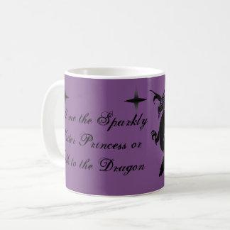 Caneca De Café Princesa Sparkly do escritor