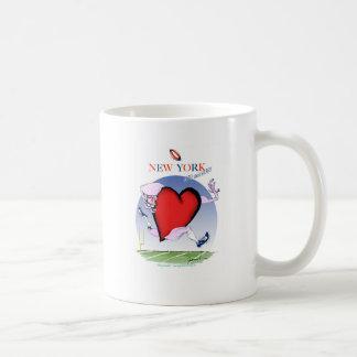 Caneca De Café Principais de New York e coração, fernandes tony