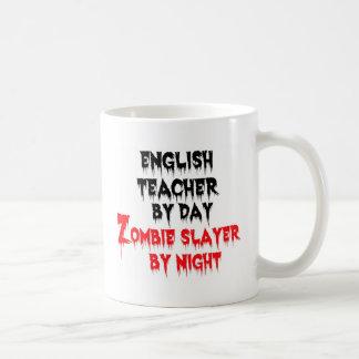 Caneca De Café Professor de inglês pelo assassino do zombi do dia