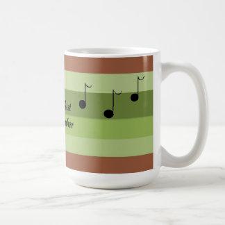 Caneca De Café Professor de música do mundo o melhor