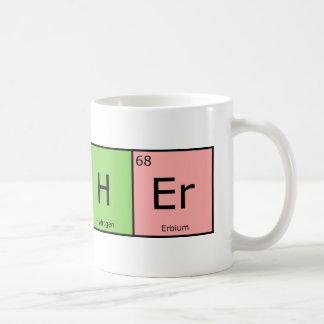Caneca De Café Professor dos elementos químicos