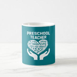 Caneca De Café Professor pré-escolar