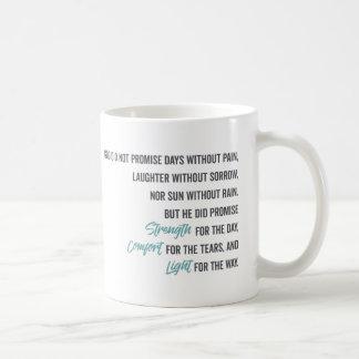 Caneca De Café Promessa do conforto e da luz da força