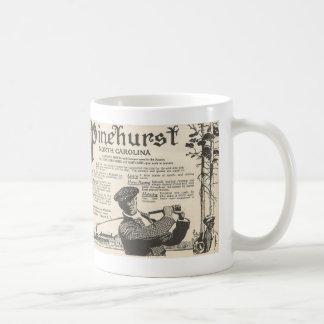 Caneca De Café Propaganda do turismo de Pinehurst NC desde 1916