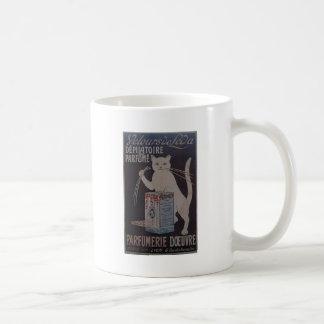 Caneca De Café Propaganda francesa do vintage - gatos