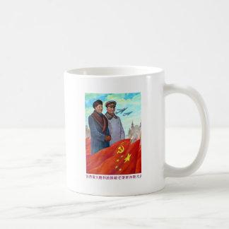 Caneca De Café Propaganda original Mao Zedong e Josef Stalin