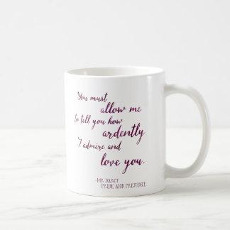 Caneca De Café Proposta do Sr. Darcy - Jane Austen, orgulho e