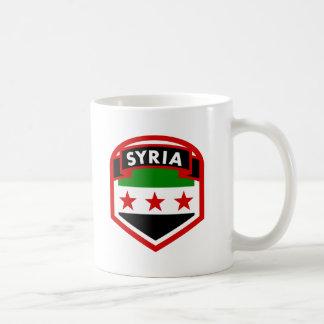 Caneca De Café Protetor da crista da bandeira de Syria