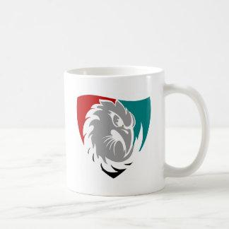 Caneca De Café Protetor da protecção de segurança do falcão