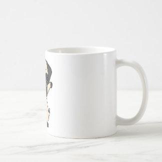 Caneca De Café Pug de toque ligeiro bonito