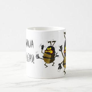 Caneca De Café Pulga de Ninja