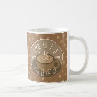 Caneca De Café Pulso de disparo e feijões da ruptura de café