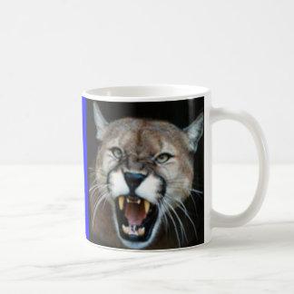 Caneca De Café Puma Snarling, puma assentado