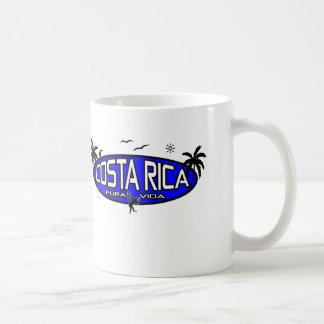 Caneca De Café Pura Vida Costa Rica - Oval tropical - azul