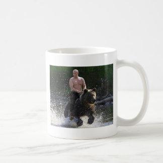 Caneca De Café Putin monta um urso!