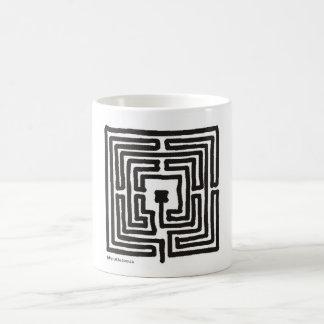 Caneca De Café quadrado do labirinto 7